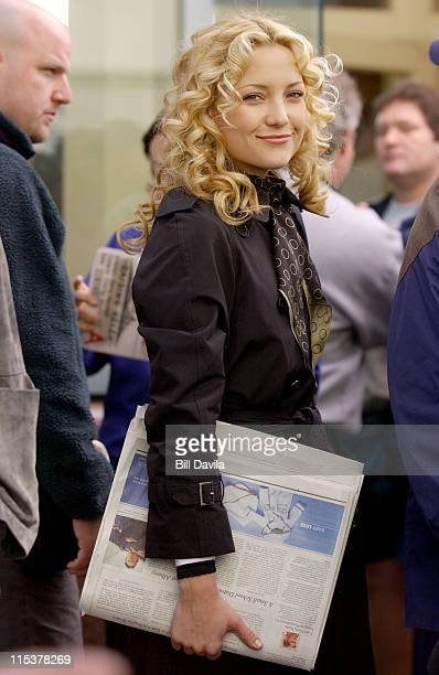 Kate Hudson during Raising Helen Movie Set at West Village in New York NY United States