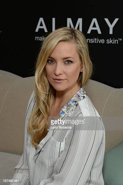 Kate Hudson during the Kate Hudson Almay Intense i-Color Bold Nudes And Smart Shade Mousse Makeup Launch at The NoMad Hotel on December 3, 2012 in...