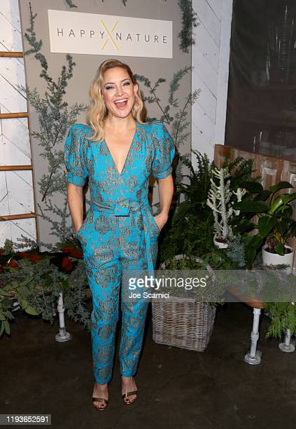 Kate Hudson hosts a cocktail event to celebrate Happy X Nature Eco-Evening Collection at The Butcher's Daughter on December 12, 2019 in Venice,...