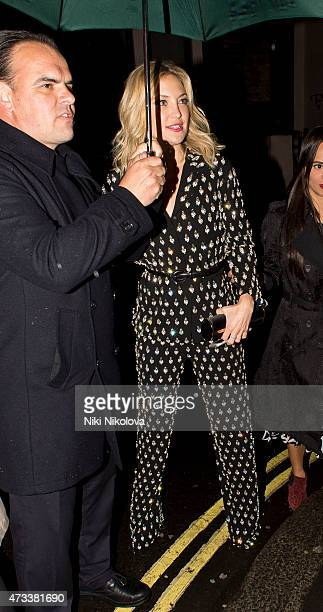 LONDON ENGLAND May 14 Kate Hudson is seen arriving at the Ivy restaurant Soho on May 14 2015 in London England