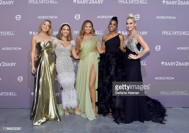 Kate Hudson Jessica Alba Chrissy Teigen Kelly Rowland and Katy Perry attend the 2019 Baby2Baby Gala presented by Paul Mitchell on November 09 2019 in...