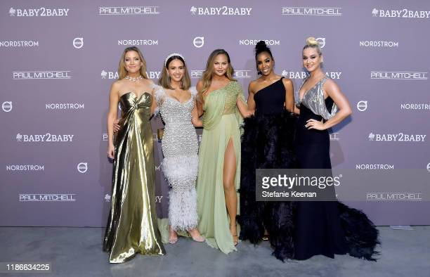 Kate Hudson Jessica Alba Chrissy Teigen Kelly Rowland and Katy Perry attends the 2019 Baby2Baby Gala presented by Paul Mitchell on November 09 2019...