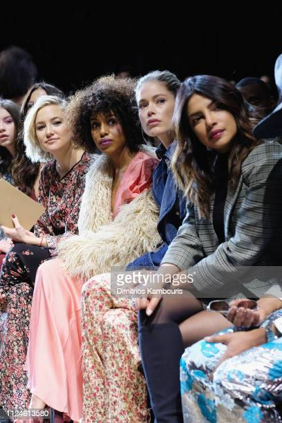 Kate Hudson, Kerry Washington, Doutzen Kroes, and Priyanka Chopra attend the Michael Kors Collection Fall 2019 Runway Show at Cipriani Wall Street on...