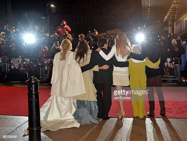 Kate Hudson Penelope Cruz Dame Judi Dench Daniel Day Lewis Rob Marshall and Nicole Kidman attend the Nine world film premiere at the Odeon Leicester...