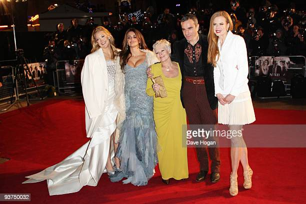 Kate Hudson Penelope Cruz Judi Dench Daniel Day Lewis and Nicole Kidman attend the world premiere of Nine held at the Odeon Leicester Square on...