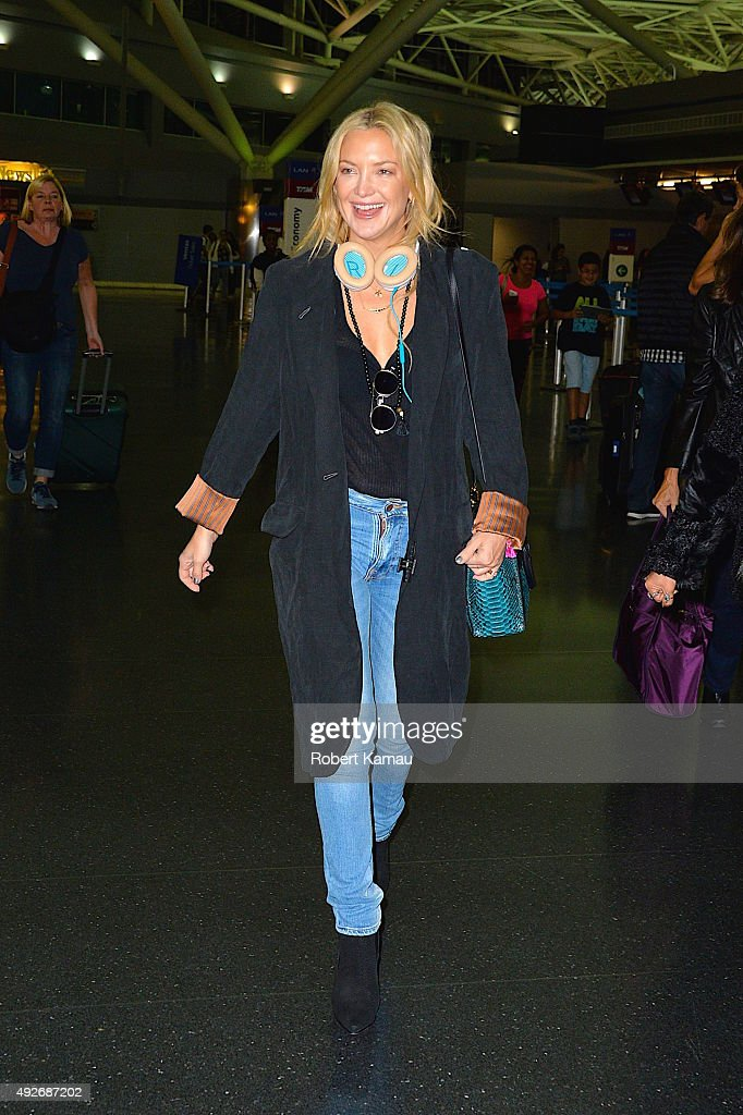 Kate Hudson seen at JFK Airport on October 14, 2015 in New York City.