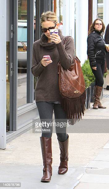 Kate Hudson sighting in North London on March 9 2012 in London England