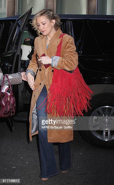 Kate Hudson spotted arriving at SiriusXM studios on February 18 2016 in New York City