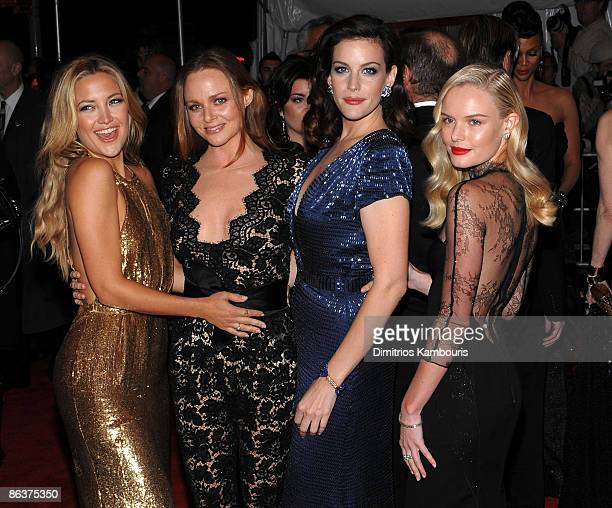 Kate Hudson Stella McCartney Liv Tyler and Kate Bosworth attend The Model as Muse Embodying Fashion Costume Institute Gala at The Metropolitan Museum...