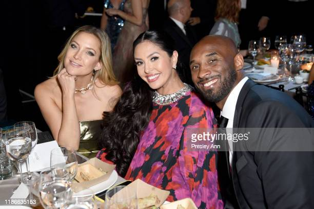 Kate Hudson Vanessa Laine Bryant and Kobe Bryant attend the 2019 Baby2Baby Gala presented by Paul Mitchell on November 09 2019 in Los Angeles...