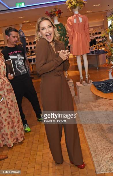 Kate Hudson visits Selfridges to launch Happy x Nature in Europe for the first time on August 21, 2019 in London, England.