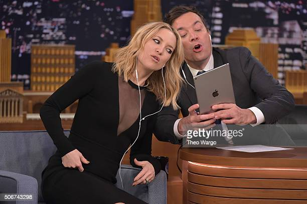Kate Hudson Visits 'The Tonight Show Starring Jimmy Fallon' on January 25 2016 in New York City