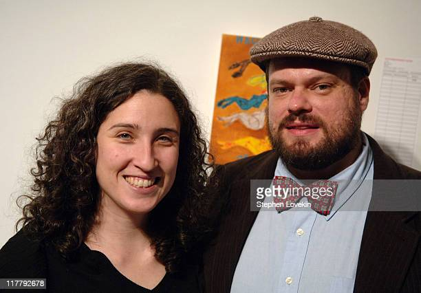 Kate Hurwitz and Rich Jacobs during Virgin Mobile ReGeneration Art Auction and Party December 13 2006 at The Xchange in New York New York United...