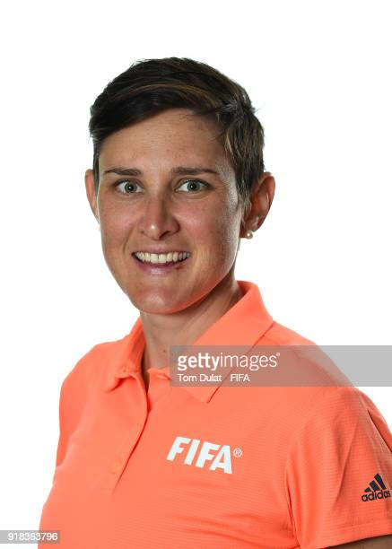 Kate Jacewicz of Australia poses for photographs during the FIFA Women's Referee Seminar on February 14 2018 in Doha Qatar