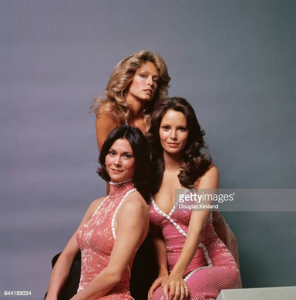 Kate Jackson Farrah Fawcett and Jaclyn Smith during a publicity shoot for the popular 1970s television show Charlie's Angels Jackson played the role...