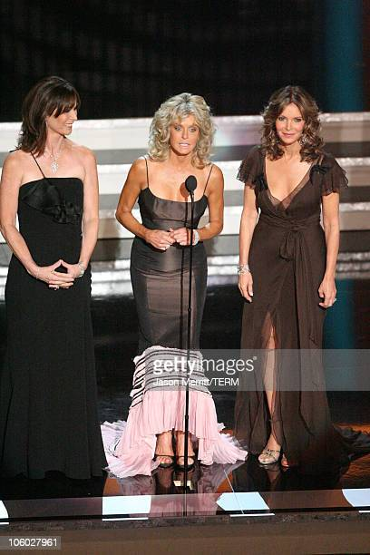 Kate Jackson Farrah Fawcett and Jaclyn Smith the Charlie's Angels appear for the Aaron Spelling Tribute