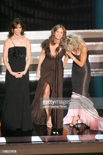 Kate Jackson Jaclyn Smith and Farrah Fawcett the Charlie's Angels appear for the Aaron Spelling Tribute