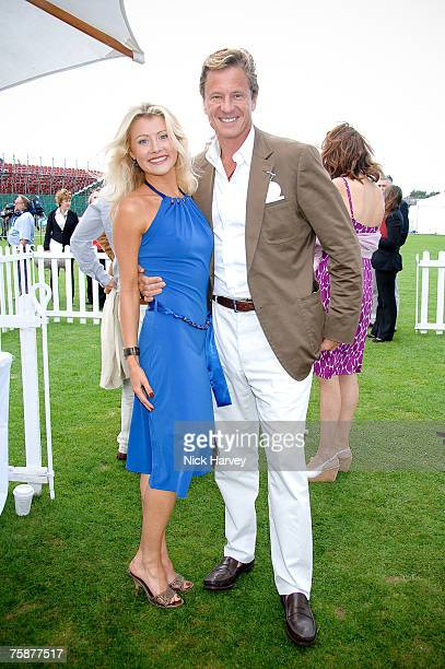 Kate James and Robert Hersov at the Cartier International Polo at the Guards Polo Club on July 29, 2007 Windsor, England.
