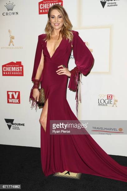 Kate Jenkinson arrives at the 59th Annual Logie Awards at Crown Palladium on April 23 2017 in Melbourne Australia