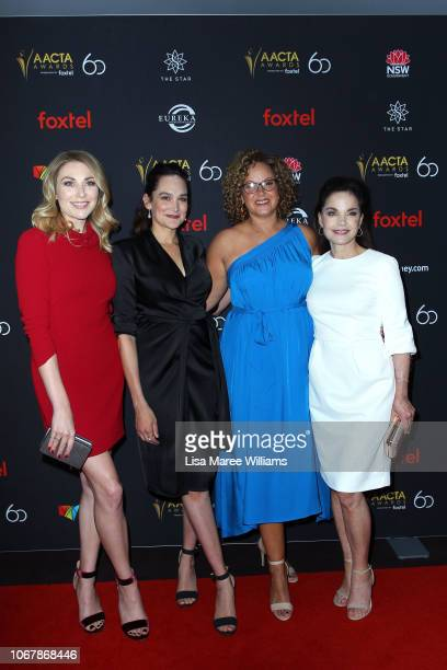 Kate Jenkinson Nicole da Silva Leah Purcell and Sigrid Thornton attend the 2018 AACTA Awards Presented by Foxtel | Industry Luncheon at The Star on...