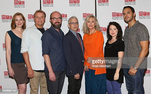 Kate Jennings Grant David Rasche Eric Lange Blythe Danner Sarah Steele and Daniel Sunjata with playwright Donald Margulies attend the 'The Country...