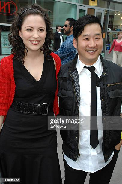 Kate Kelton and Bobby Lee during Kickin' It Old Skool Los Angeles Premiere Red Carpet at ArcLight in Los Angeles California United States
