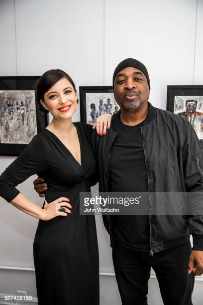 Kate Kelton and Chuck D attend The Launch of Chuck D's first solo art exhibition at Gallery 30 South on March 4 2018 in Pasadena California