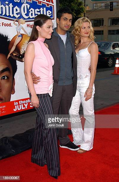 Kate Kelton Kal Penn and Brooke D'Orsay during Harold Kumar Go to White Castle Los Angeles Premiere Red Carpet at Mann Chinese Theatre in Hollywood...
