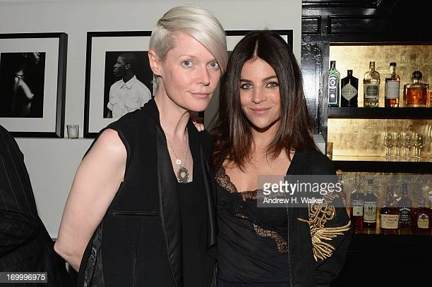 Kate Lanphear and Julia Restoin Roitfeld attend the Casadei dinner at Omar's hosted by Julia Restoin Roitfeld and Cesare Casadei celebrating Resort...