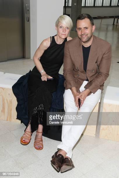 Kate Lanphear and Michael Carl attend Max Mara Resort Show 2019 at Collezione Maramotti on June 4 2018 in Reggio nell'Emilia Italy