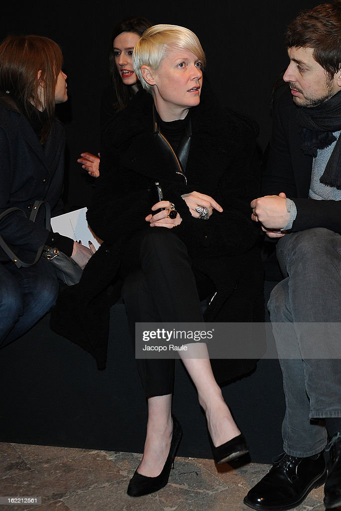 Kate Lanphear attends Francesco Scognamiglio show during Milan Fashion Week Womenswear Fall/Winter 2013/14 on February 20, 2013 in Milan, Italy.