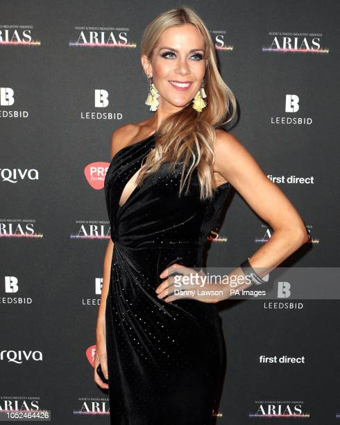 Kate Lawler arriving at the The Audio and Radio Industry Awards at the First Direct Arena in Leeds