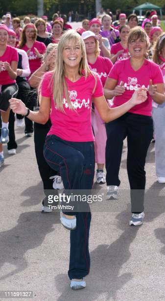 Kate Lawler during Kate Lawler At The Aerobics Breast Cancer Care Fundraising Event at Regents Park in London Great Britain
