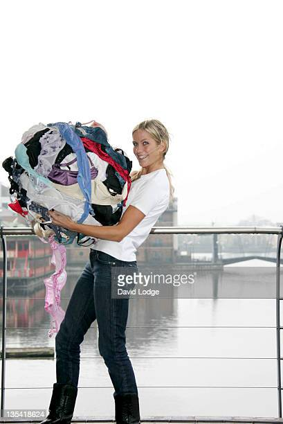 Kate Lawler during Launch of the Bravo Campaign in Support of Breast Cancer Care at Canary Wharf in London Great Britain