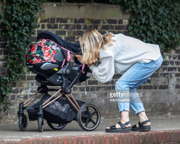 Kate Lawler seen in North london on July 01, 2021 in London, England.