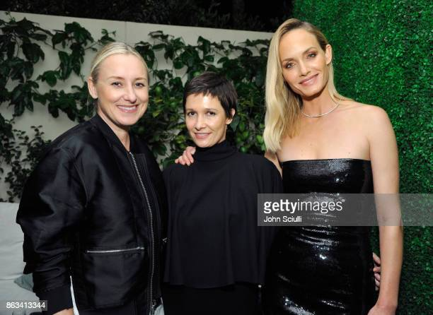 Kate Lee Cassandra Grey and Amber Valletta attend THE OUTNET x Amber Valletta at Waldorf Astoria Beverly Hills on October 19 2017 in Beverly Hills...