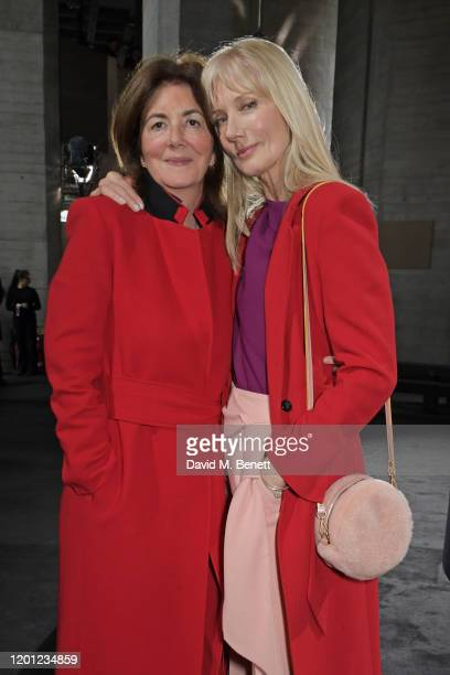 Kate Lenahan and Joely Richardson attend the Roland Mouret show during London Fashion Week February 2020 at The National Theatre on February 16 2020...