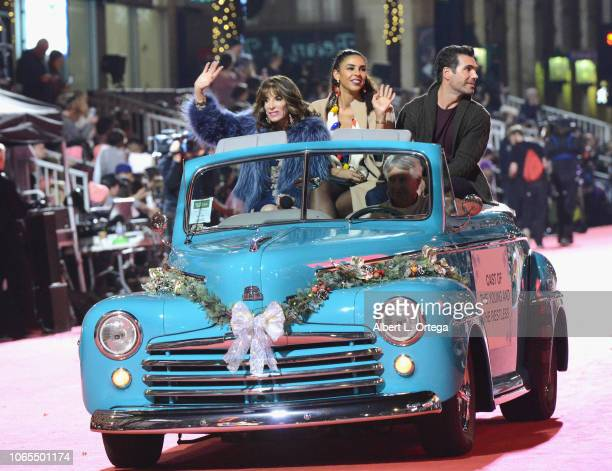 Kate Linder, Alice Hunter and Jordi Villasuso of 'The Young and the Restless Participate in the 87th Annual Hollywood Christmas Parade on November...