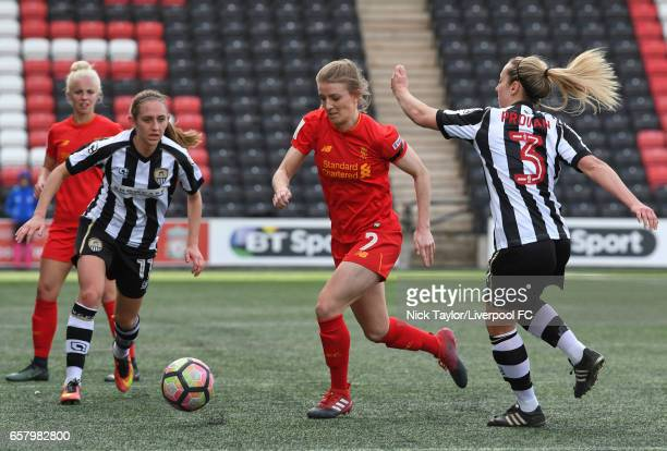 Kate Longhurst of Liverpool Ladies and Aileen Whelan and Shelly Provan of Notts County Ladies in action during the Liverpool Ladies v Notts County...