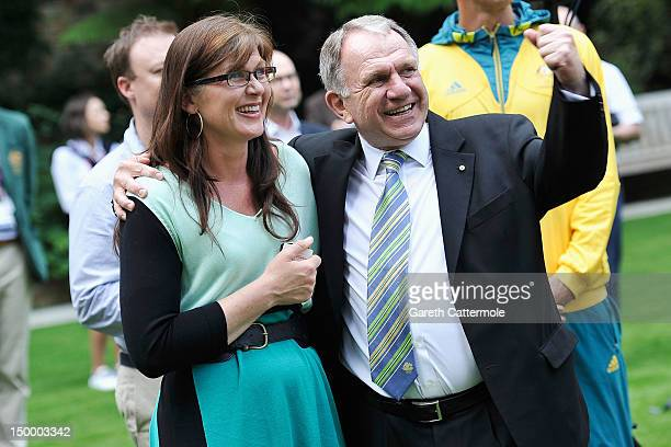 Kate Lundy, Sports Minister for Australia with John Dauth, the Australian High Commissioner to the United Kingdom, attend a Garden Party in honour of...