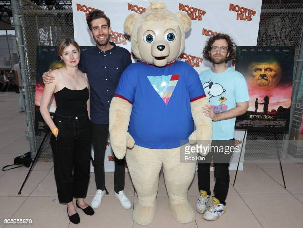 Kate Lyn Sheil Dave McCary Brigsby Bear and Kyle Mooney ttend a sneak preview of Sony Pictures Classics' BRIGSBY BEAR presented by Rooftop Films at...