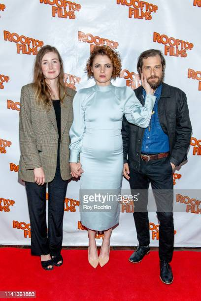 Kate Lyn Shiel Amy Seimetz and Kentucker Audley attend the Rooftop Films Spring Gala at St Bart's church on April 08 2019 in New York City