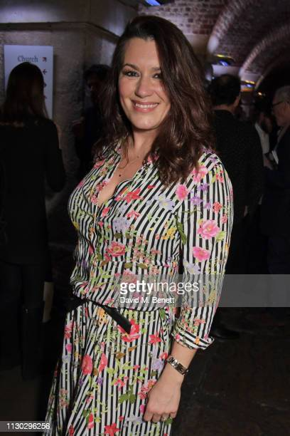 Kate Magowan attends the press night after party for Betrayal at The Cafe In The Crypt St MartinintheFields on March 13 2019 in London England