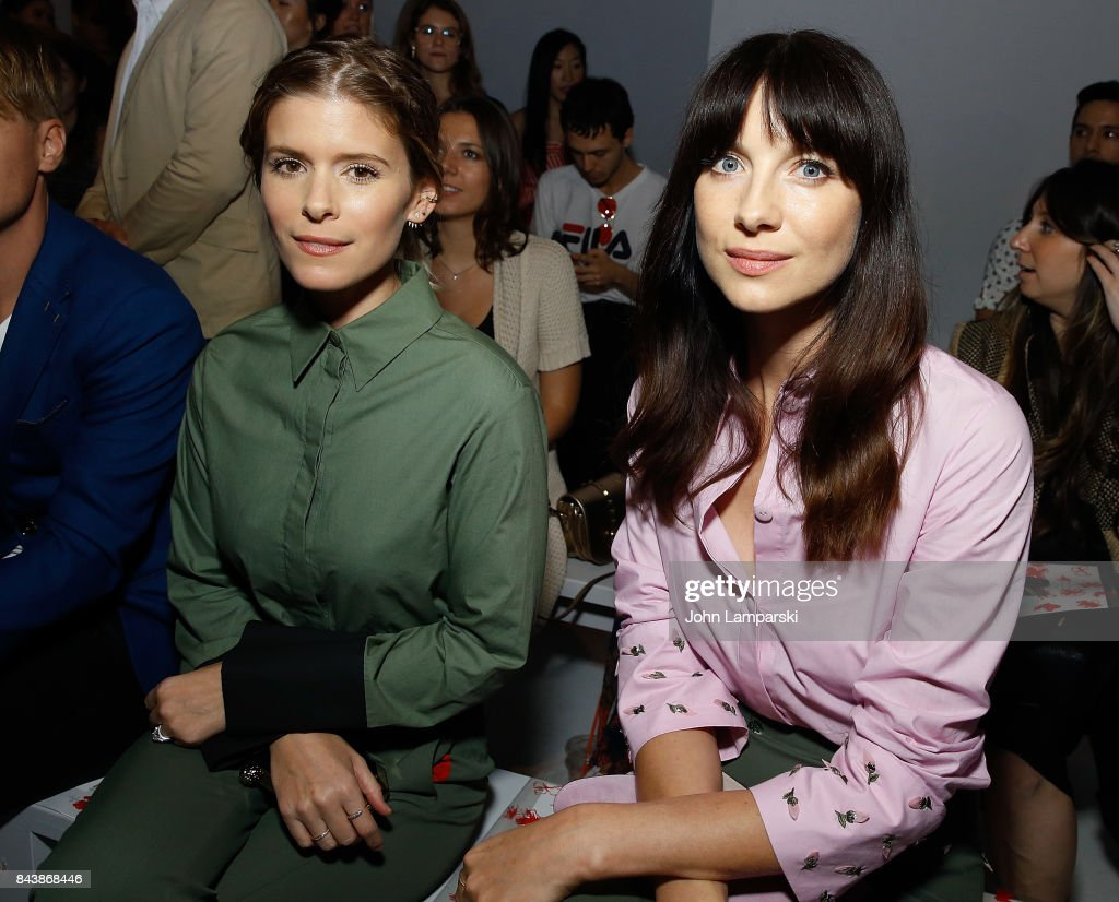 Kate Mara and Caitriona Balfe attend Noon By Noor September 2017, New York Fashion Week: The Shows at Gallery 3, Skylight Clarkson Sq on September 7, 2017 in New York City.