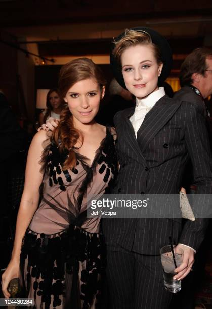 Kate Mara and Evan Rachel Wood attend The Ides of March party hosted by GREY GOOSE Vodka at Soho House Pop Up Club during the 2011 Toronto...