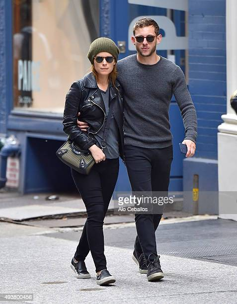 Kate Mara and Jamie Bell are seen in Soho on October 22 2015 in New York City