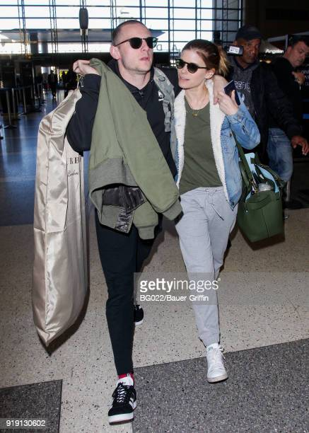 Kate Mara and Jamie Bell are seen on February 16 2018 in Los Angeles California