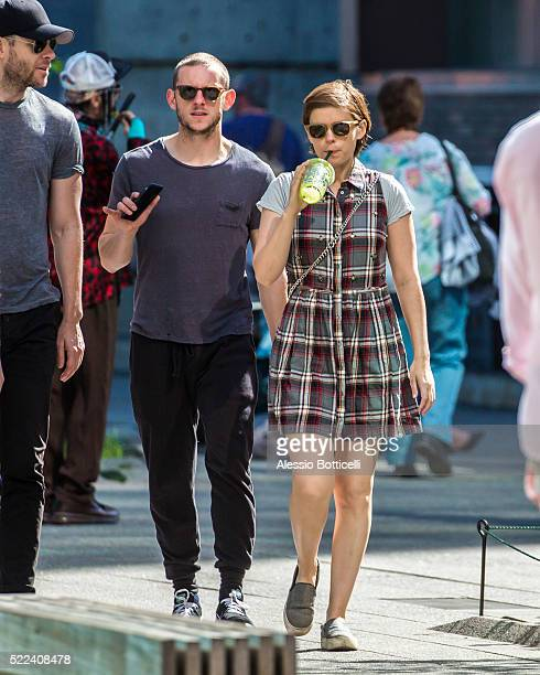 Kate Mara and Jamie Bell are seen touring The High Line in Chelsea with Kate's brother John Mara Jr and a friend on April 19 2016 in New York City