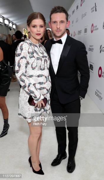 Kate Mara and Jamie Bell attend the 27th annual Elton John AIDS Foundation Academy Awards Viewing Party sponsored by IMDb and Neuro Drinks...