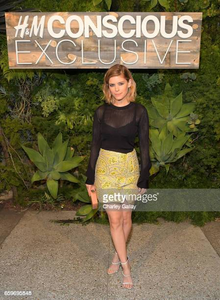 Kate Mara and Johnny Wujek attends the HM Conscious Exclusive Dinner at Smogshoppe on March 28 2017 in Los Angeles California